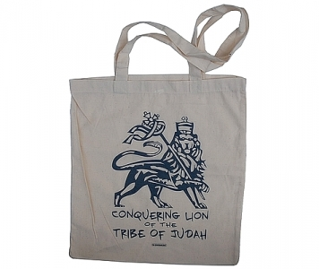 rasta tote bag CONQUERING LION - NATURAL