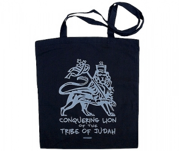 Rasta tote bag CONQUERING LION - BLACK