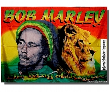 DRAPEAU RASTA MARLEY KING OF REGGAE