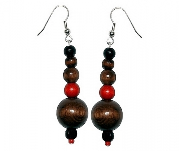 EARRINGS - RED BROWN