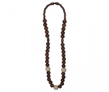 COLLIER RASTA - MARRON ET NATUREL
