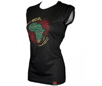 Rasta chic tee SELASSIE I SPEAKS - BLACK