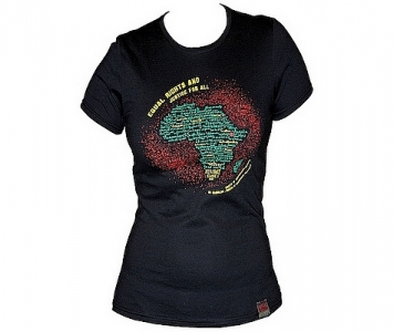 Rasta woman tee SELASSIE I SPEAKS - BLACK