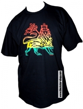 Rasta tee LION OF JUDAH - BLACK