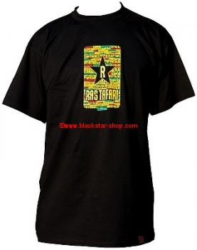 Rasta t-shirt RASTAFARI - BLACK