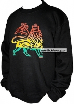 Rasta sweatshirt LION OF JUDAH - BLACK