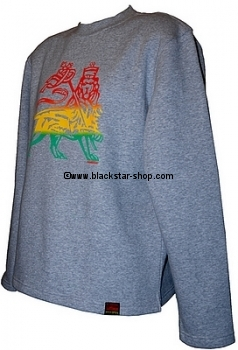 Rasta sweatshirt LION OF JUDAH - HEATHER GREY