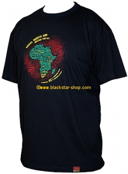 Tee-shirt rasta SELASSIE I SPEAKS - NOIR