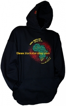 Hooded sweatshirt SELASSIE I SPEAKS - BLACK
