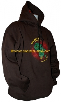 Sweatshirt capuche SELASSIE I SPEAKS - MARRON