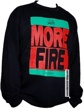 Sweatshirt rasta MORE FIRE - NOIR
