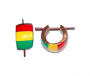 RASTA RGG COCO EARRINGS