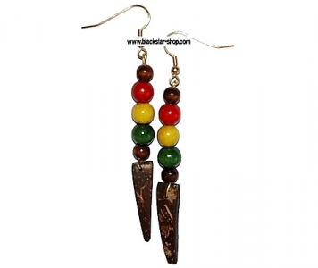 EARRINGS - RASTA COCO