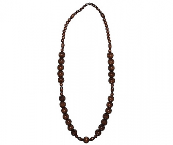 COLLIER RASTA - BOIS MARRON